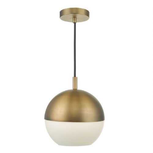Andre 1 Light Pendant Aged Brass (Class 2 Double Insulated) BXAND0142-17